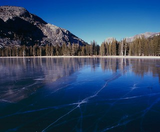 Frozen over lake   by wirehead