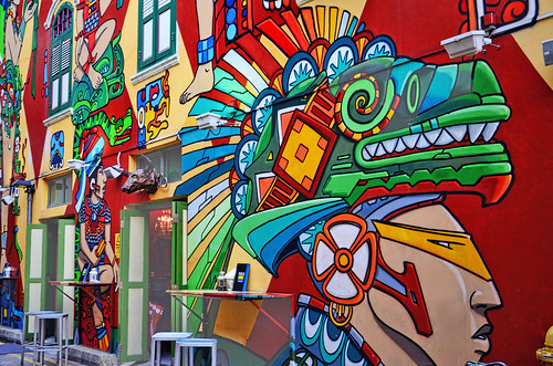Colorful Graffiti spicing up the atmosphere at Haji Lane – Kampong Glam, Singapore | by williamcho
