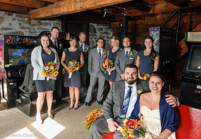 Wedding Party in the Basement Arcade