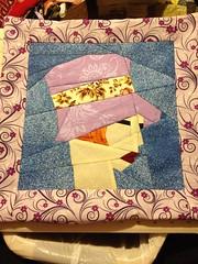 Posh 20's lady pillow
