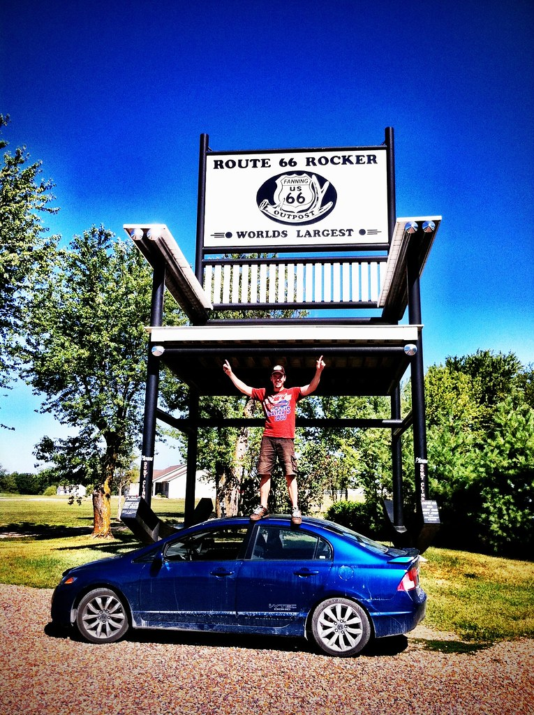 Swell Worlds Largest Rocking Chair Route 66 Cuba Missouri Alphanode Cool Chair Designs And Ideas Alphanodeonline