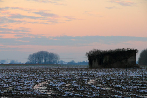 winter sunset landscape evening countryside hiver paysage soir campagne contrejour coucherdesoleil againstthelight canoneos1100d canoneosrebelt3