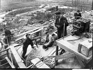 Men working at Cedar Falls, 1921