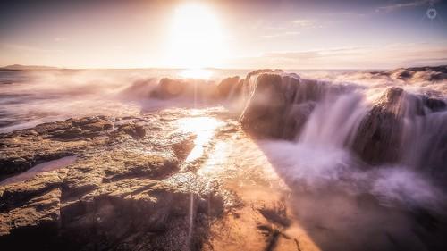 afternoon australia canon landscape leefilters light longexposure nationalpark noosa queensland rocks seaside sunshine water waves