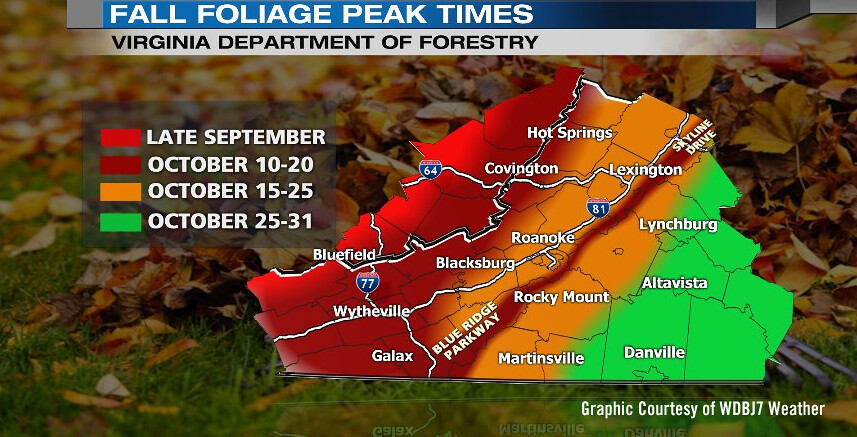2016 Fall Foliage Schedule - Courtesy of WDBJ7 Weather | Flickr