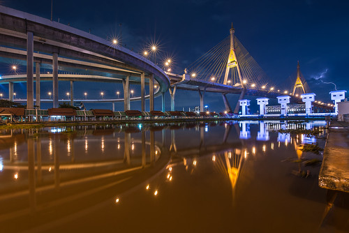 nikon nikond610 landscape landscapes blue longexposure light dslr ff fx fullframe photo photography photographer nightphoto wide wideangle weatherphoto bluehour reflex bridge building tamron thai thailand tamron1530 lightnight lights citylight cloud outdoor colour city river sunset color colorful scene bangkok water waterfront sky skyline architecture afterdark asia angle asian amateur 15mm 1530 d610 d600 dawn dusk view nightscape nightscene nighttime night pics rain cityscape stormyday clouds dream สะพานภูมิพล landmark ไทย ประเทศไทย สมุทรปราการ reflections
