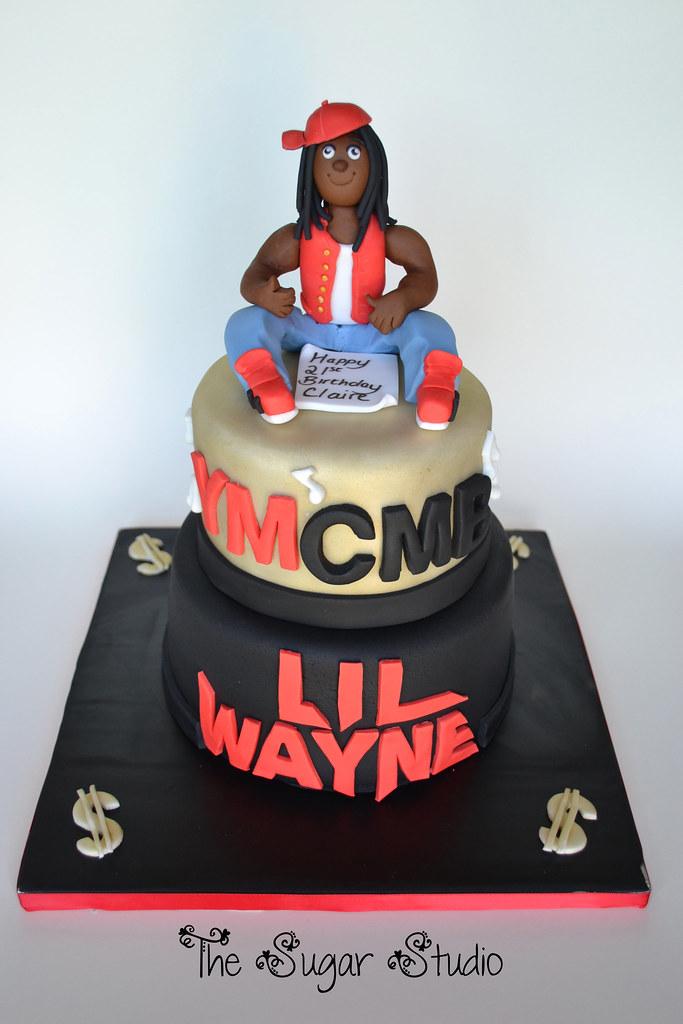 Pleasant 2 Tier Lil Wayne Birthday Cake With Handmade Edible Cake T Flickr Personalised Birthday Cards Petedlily Jamesorg