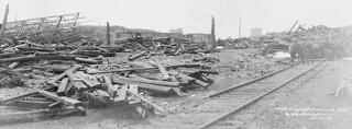 View of Halifax, Nova Scotia, from Pier 8, after the disaster / Vue d'Halifax en Nouvelle-Écosse, après le désastre, prise à partir du quai no 8