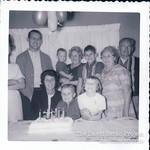 David b-day. Grandparents and godmother.