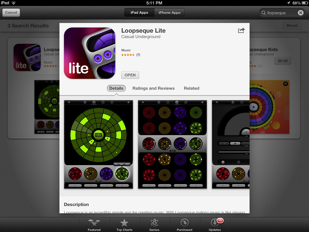 loopseque lite ipad midi controller apps for music compo flickr. Black Bedroom Furniture Sets. Home Design Ideas
