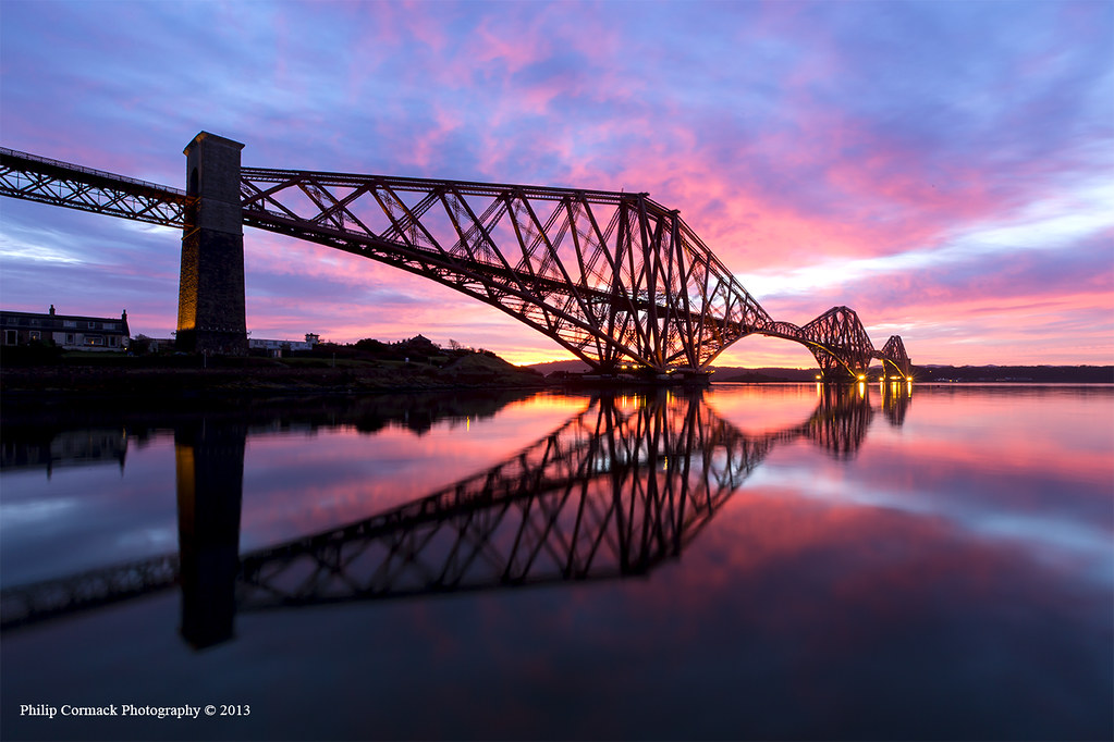 Forth Rail Bridge at Sunrise