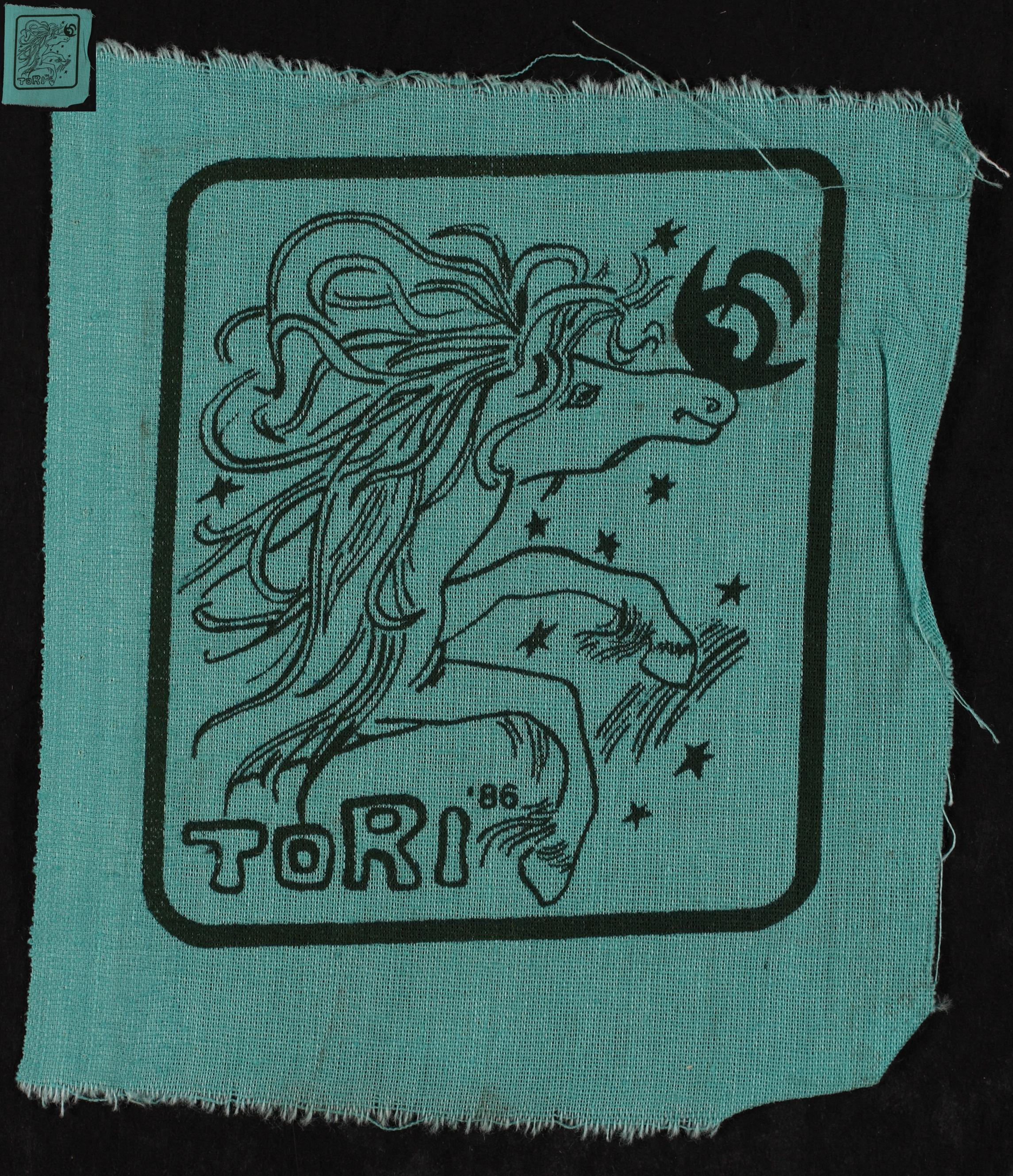 Maleva embleem, Tori 1986 / Secondary School Students' Building Brigade emblem, Tori 1986