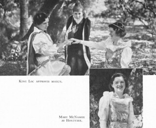 "The 1934 Associated Women Students' May Masque, which was an adaptation from Anatole France's ""Honey Bee."""