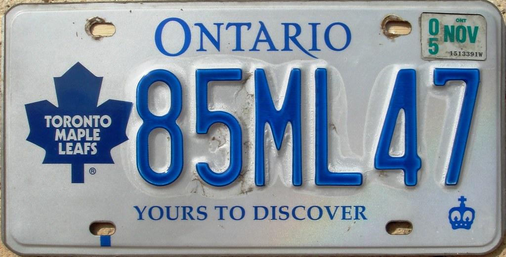 Toronto Maple Leafs License Plate Ontario Hockey Nhl Flickr