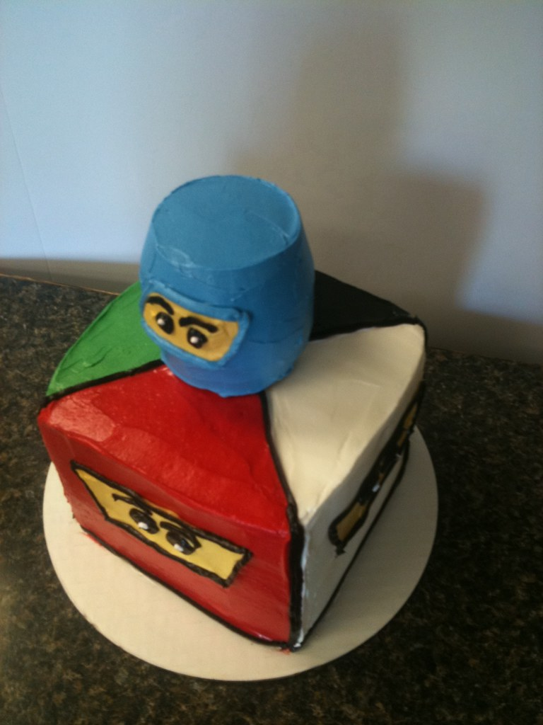 Ninjago cake | Buttercream covered cake created by Tootsweet