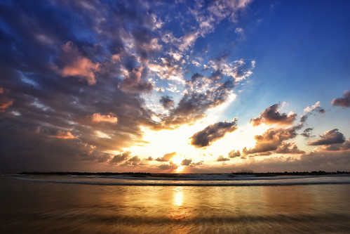sunset sea beach nature clouds nikon wide sigma shimane izumo 10mm 島根 出雲 inasa colorefex d3100