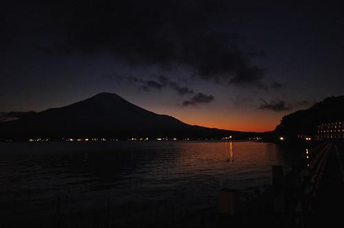 road autumn light sunset sky mountain lake art fall water japan night pond fuji nightscape pentax hiroshima highland pentaxart