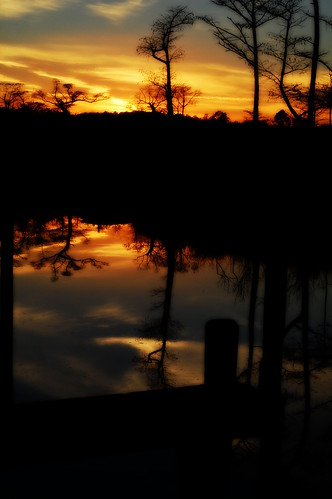 sunset reflection water pensacola