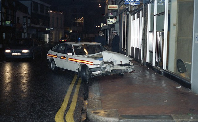 Rover Police Car crumpled - Richmond Surrey