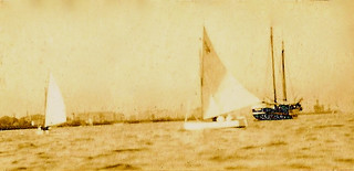 'Final of the Ladies' Race'  Bombay Harbour, March 1925