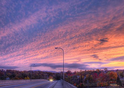 show bridge autumn trees sky mountains color clouds virginia saturday roanoke terry surprise hdr wasena aldhizer terryaldhizercom
