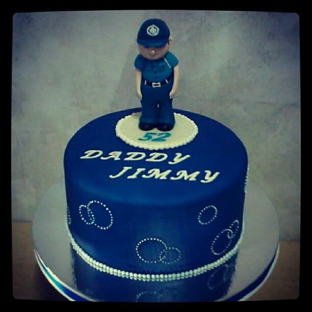Sensational Fondantcake Fondant Cake Birthday Birthdaycake Polic Flickr Funny Birthday Cards Online Hendilapandamsfinfo