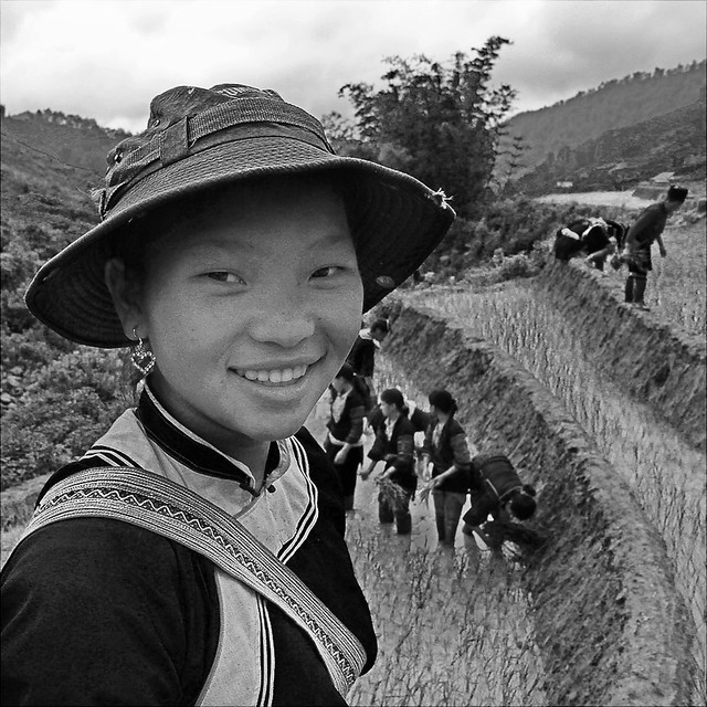 Black Hmong in black and white
