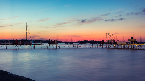 madison wisconsin lake mendota usa sunset sky color water longexposure boat redfurwolf sony rx100m4 smooth