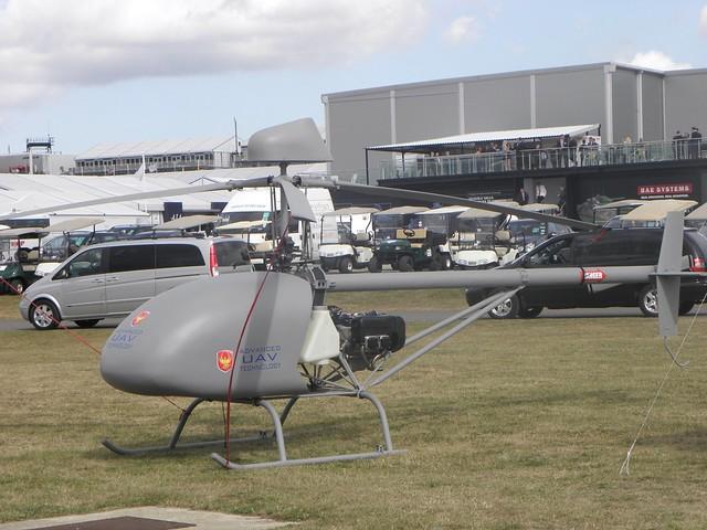 A drone UAV at the 2010 Farnborough Air Show