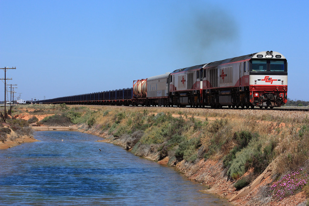 CSR003, CSR005 departing Coonamia by Malleeroute