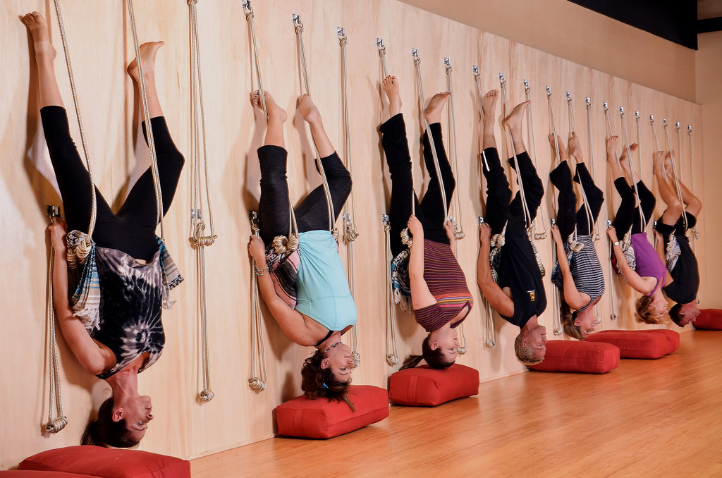 Yoga Sol: Iyengar Yoga on the Rope Wall | Yoga Sol | Flickr