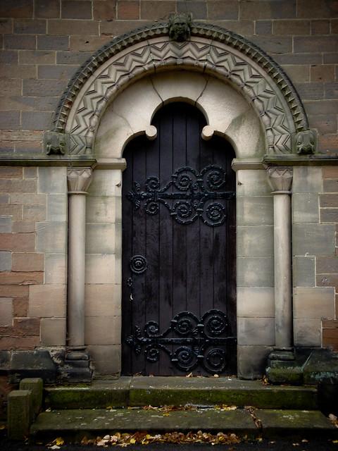 Normanesque arched doorway (1847)