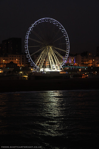 Brighton Wheel At Night