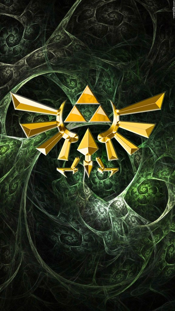 iPhone 5 Wallpaper Zelda Triangle 2 by APPLERAICING