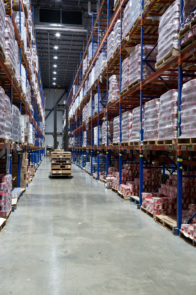 LED High-bay Lighting in Cold Storage Warehouse   new LED hi