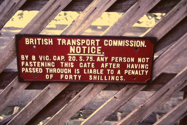 Cast iron sign