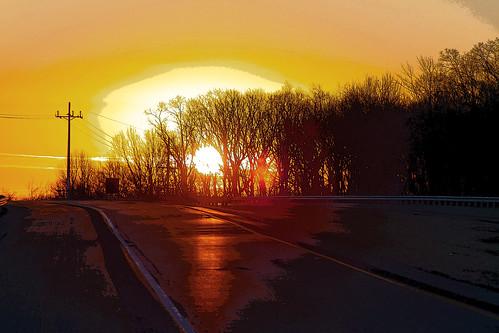sunrise canon newjersey tramonto sonnenuntergang 33 nj route pôrdosol monmouth monmouthcounty freehold 夕日 日落 coucherdusoleil ηλιοβασίλεμα zachódsłońca eos50d захід rte33