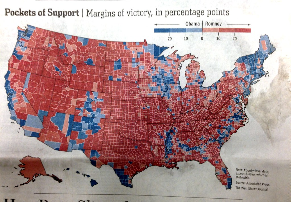 Map 2012 Us Presidential Election Results By County Flickr - 2012-us-presidential-election-map