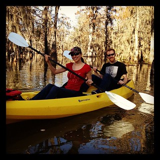 Swamp tour in a kayak! Spotted huge alligator on Lake Martin #louisiana | by Downtown Traveler