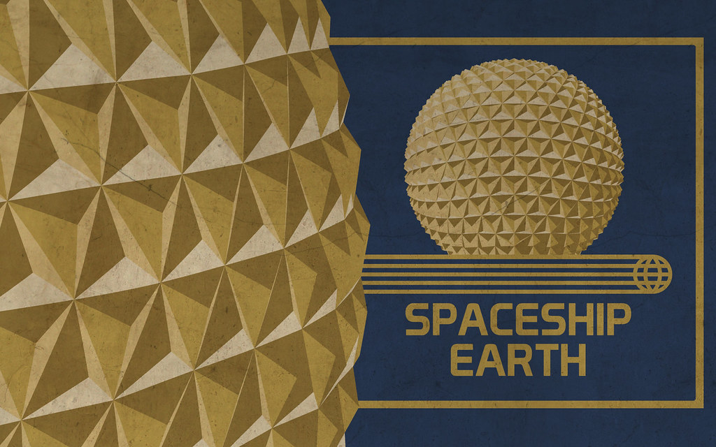 Spaceship Earth Wallpaper | by scbb11Sketch1 Spaceship Earth Wallpaper | by scbb11Sketch1