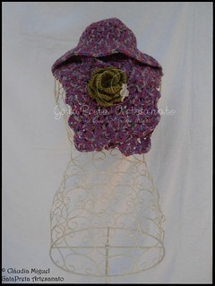 "Golinha e chapéu ""Night Purple"" (2012-2013) | by GataPreta Artesanato"