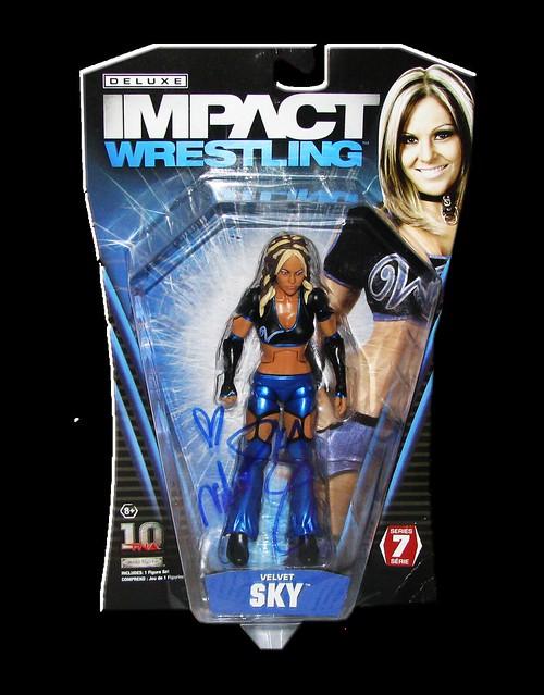 Velvet Sky Autographed JAKKS Pacific TNA DELUXE IMPACT Series 7 FIgure