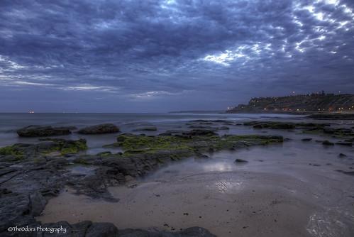 beach clouds newcastle bluehour hdr beachscape canon24105 theodoraphotography canon5d3