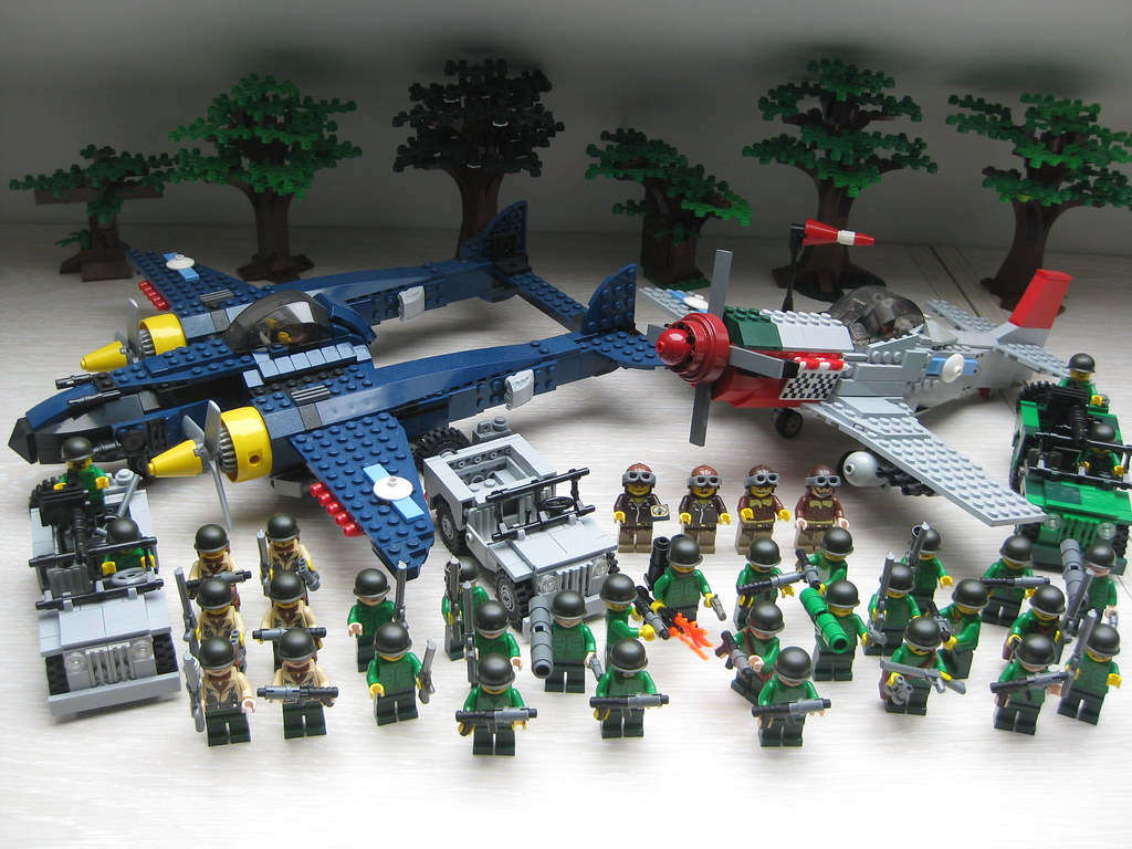 lego ww2 us army | 27 soldiers US army / air force 6 rangers