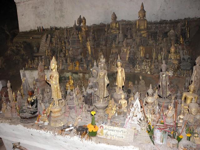 Statues inside the Pak Ou Caves, Laos