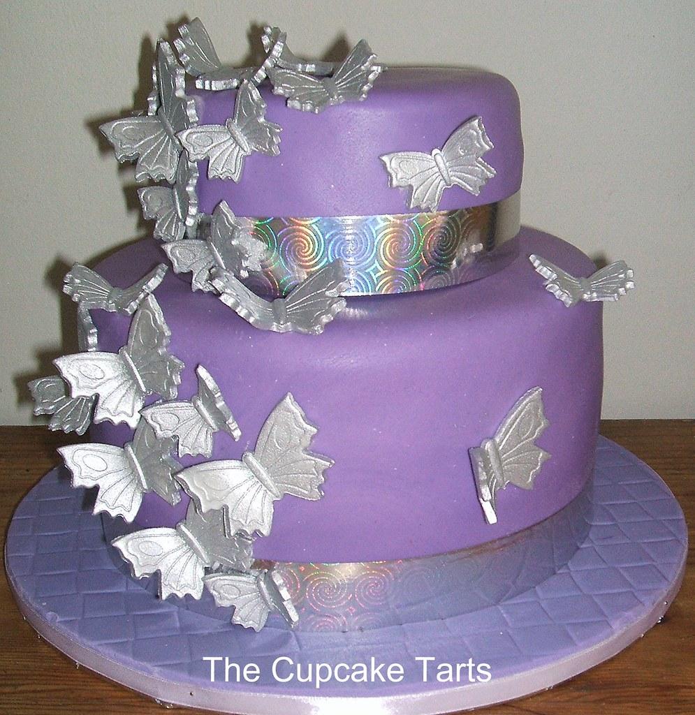 Tremendous 21St Birthday A Purple And Silver 21St Birthday Cake 21 Flickr Funny Birthday Cards Online Ioscodamsfinfo