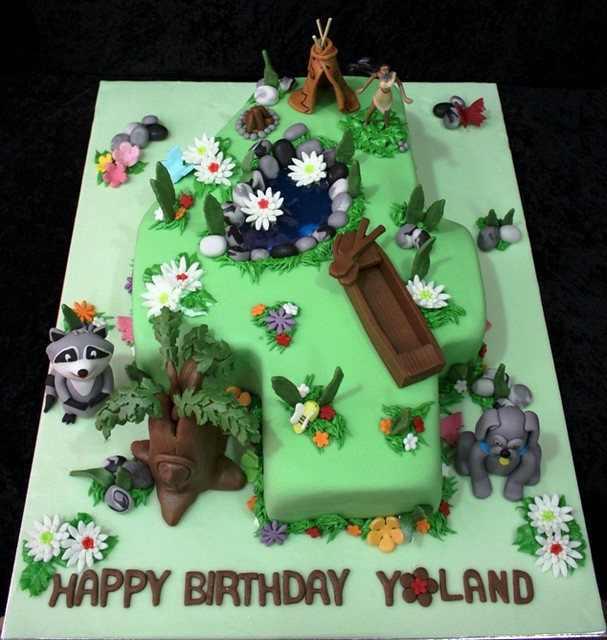 Excellent Pocahontas Cake Irena Flickr Personalised Birthday Cards Cominlily Jamesorg
