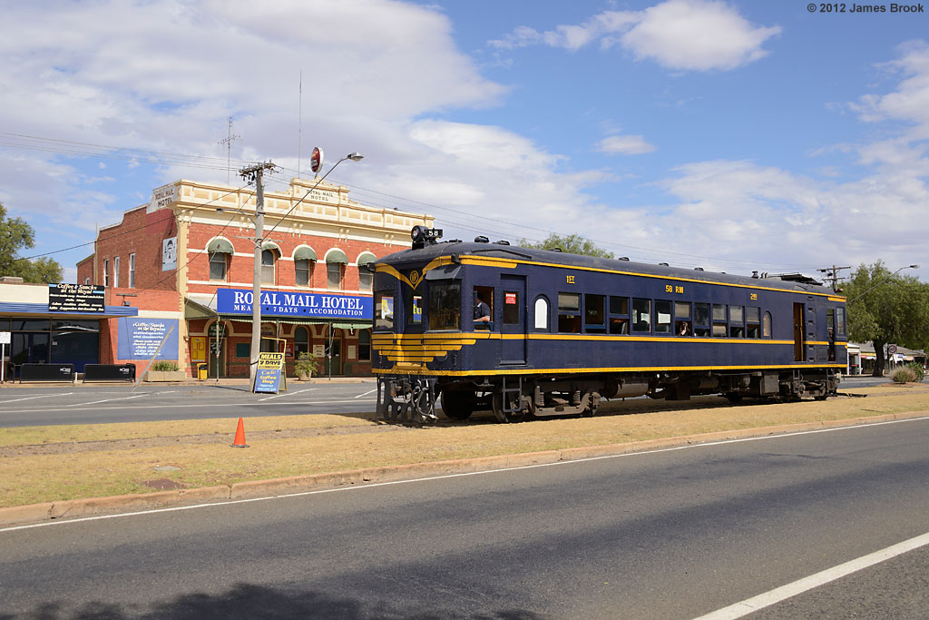 58RM in the main street at Wycheproof with 8193 by James Brook