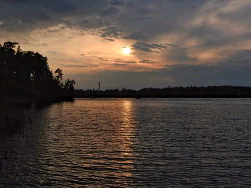 evening serene cloudy helsinki laajasalo finland