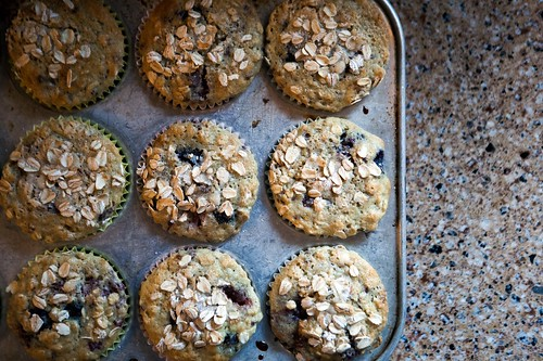 Blueberry & Raspberry Oatmeal Muffins | by epiøne